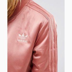6dee5e0ba52 adidas Jackets   Coats - Adidas rose gold satin bomber jacket size small